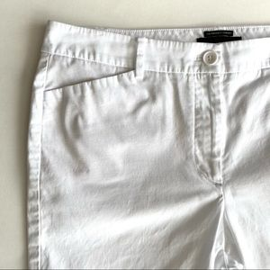 Talbots white capris, cotton/spandex